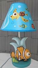 Disney Finding Nemo Nursery Blue Lamp Base & Squirt Sea Turtle Shade Clownfish