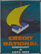Affiche EMPRUNT NATIONALE 1969 Jean GADAUD