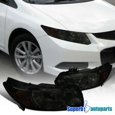For 2006-2011 Honda Civic 2Dr Coupe Replacement Smoke Headlights Head Lamps Pair