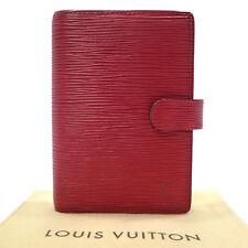 Authentic LOUIS VUITTON Epi Agenda PM Day Planner Case Rouge R20057 #K161443