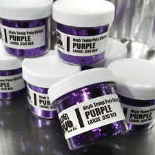 NEW 2 OZ. Jar PURPLE High Temp Glitter .030 Hex Fishing plastisol Soft Plastic