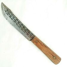 Carbon Steel Chef Butcher Knife Wood Handle Cutlery Vintage Taiwan