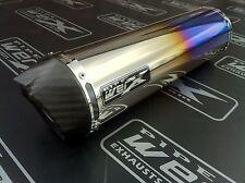 Aprilia SL 1000 Falco Pair, Coloured Titanium Round, Carbon Outlet,Exhaust Cans