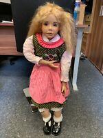 Künstlerpuppe Porzellan Puppe 83 cm. Top Zustand