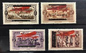 1928 Lebanon Air set (plane+2 lang.) SG 137-140 MNH Liban