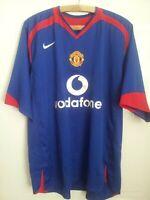 Manchester United Football Shirt Away 2005 2006 Nike Jersey Top Soccer Mens Size