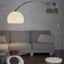 DEUBA® Design Bogenlampe weiss Marmorfuss 146-220cm Lampe Stehlampe Stehleuchte