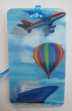i Plane Hot Air Balloon Cruise Ship travel LENTICULAR 3d LUGGAGE TAG id suitcase