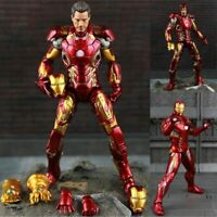 20cm The Avengers Iron Man Action Figure Model MK43 PVC Model Kids Toys Marvel
