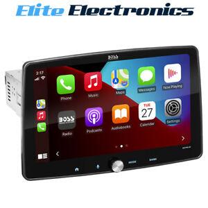 "Boss Audio BCPA10 10.1"" Single DIN Apple CarPlay & Android Auto Car"