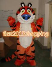 Tiger Mascot Costume Outfit Dress Adult Gentleman Smiling Suit Professional Xmas