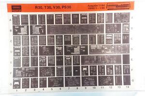 Grundig Service R30 T30 V30 PS30 Hifi Verstärker Receiver Microfiche 1984 K212
