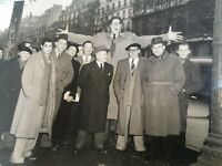 FOTO ORIGINALE IN B/N DI FERNAND BACHELARD THE GIANT MAN CHAMP ELYSEES PARIS
