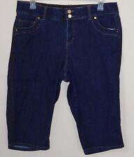 Lane Bryant Denim Blue Jean Skimmer Shorts Capri Pants Women's Size 16