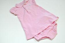 Ralph Lauren Girls Blue Pony Pink Dress Shirt Sz 6 m
