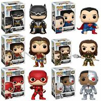 Funko POP! Justice League - Batman Superman Aquaman Flash Vinyl Figures NEW