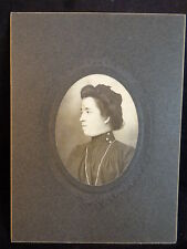 ANITQUE 1901 mounted PHOTO Lady Side view Head shot CHRISTMAS GIFT 12/25/1901