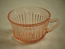 Vntage Queen Mary Pink Depression Glass Anchor Hocking Cup Ribbed Pointed Handle