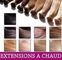 1G EXTENSIONS A CHAUD A KERATINE 100% NATURELS HAIR 41 CM 49cm 1 gram