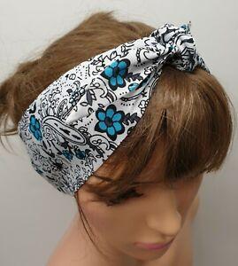 Women headband 50's headscarf retro head wear rockabilly hair scarf pin up style