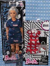 barbie fashionistas 63 with dress hello kitty dress and purse