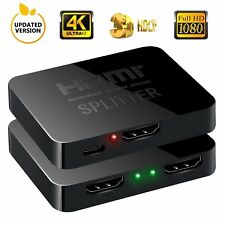 Splitter HDMI 4K Sdoppiatore 1080p 3D 1x2 1 ingresso 2 uscite UHD HD PS4 SKY TV