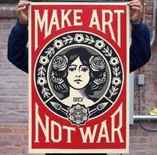 Shepard Fairey (OBEY) - Make Art Not War - Lithographie Signée À La Main - 2021