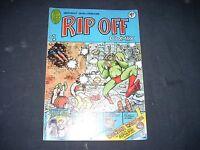 RIP OFF COMIX #1 1977 Gilbert Shelton Wonder Warthog Freak Brothers G+ original