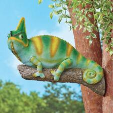 Chameleon on Branch Tree Hugger Hanging Garden Statue