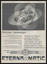 Publicité Montre Eterna Matic Suisse Watch photo vintage print ad  1962
