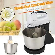 Electric 7 Speed Cake Dough Mixer Food Countertop Stand Kitchen Beater With Bowl