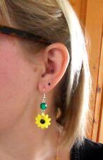 Eye-Catching SUNFLOWER Earrings for Pierced Ears