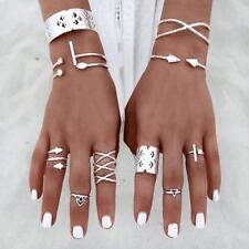 UK BOHO 6PC RING SET Bohemian Gypsy Ethnic Tribal Festival Jewellery Gift Idea