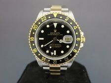 Rolex GMT Master II #16713 Mint! Steel & Gold F Serial W/Box & Papers (2004)