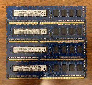 SK Hynix 4GB 2Rx8 PC3L-12800E DDR3 ECC RAM - 4 Sticks/16GB Total!
