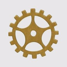"""12 Solid BRASS Sprockets Gears ~ 19mm 3/4"""" ~SteamPunk Altered Art ~MAde in USA"""