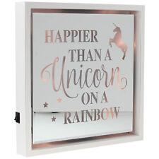 Arco Iris unicornio mágico lema mensaje cita Colgante Signo De Placa de Puerta de Pared LED