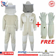 Select 3 Layer Ultra Ventilated Bee Beekeeping Suit Round Veil[Small] #Sp2