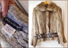SYLVIE SCHIMMEL Designer Damen Jacke Pelzjacke  Felljacke mit Lederbesatz Gr. M