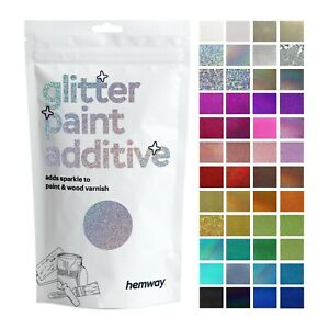 Hemway Glitter Paint Wall Additive for Emulsion (Choose 40+ Colours) Wallpaper