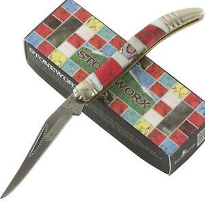 Rough Rider Stoneworx Texas Toothpick Pocket Knife Folding Blade RR1420