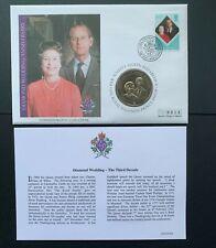 Cook Islands, 2007 Queen's Diamond Wedding Anniversary Unc. 1 Dollar Coin Cover