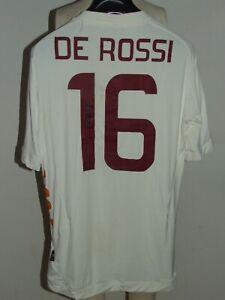 Soccer Jersey Trikot Maillot Camiseta Roma Away De Red 16 Signed Size XL