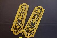 2 Gilt Antique Bronze Door Pushes Early 1900's Great Condition!
