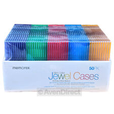 50 New Memorex Single Slim Multi Color CD DVD Jewel Case Box [FREE SHIPPING]  sc 1 st  eBay & Memorex DVD disc Media Cases u0026 Storage | eBay