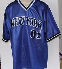 New York #01 Brooklyn Xpress XL Blue Football Style Jersey