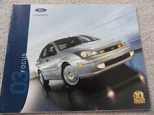 2003 Ford Focus Sales Brochure