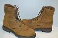 Ariat 10016267 Workhog Safety Toe Lace Up Kiltie Western Roper Work Boots 10 D