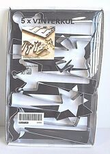 Cookie Cutter Pastry IKEA VINTERKUL 5 stainless steel Crown bow star Decoration