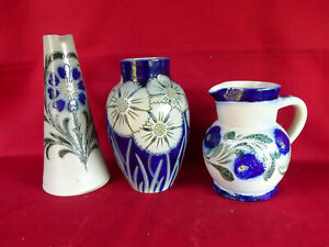 Lot de 3 / Vase / Pichet / Pot / en GRES D'ALSACE